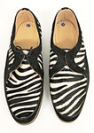 D  Gibson Black Suede / Zebra. Black EVA Sole. IN STOCK NOW size 8