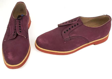 Bucks Burgundy Nubuck Red EVA Sole  STOCK ONLY size 9