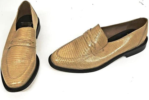 Penny Loafer Beige Snake IN STOCK ONLY size 10 1/2