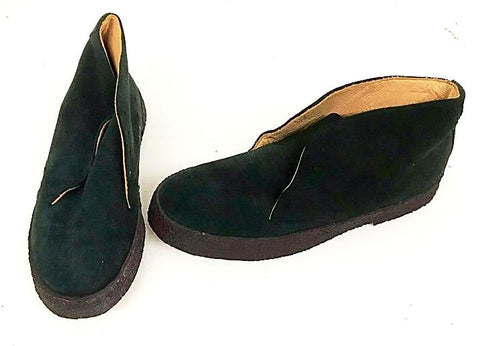 Chukka Boots Green Suede  IN STOCK NOW