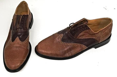A Brogue  Snake Browns  Leather sole - IN STOCK NOW END OF LINE size 13