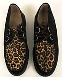 Creeper Black Suede/ Cheetah  IN STOCK NOW size 10