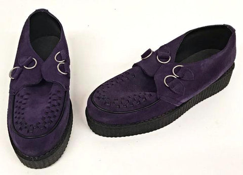 Creeper Purple Suede D-Ring  IN STOCK NOW
