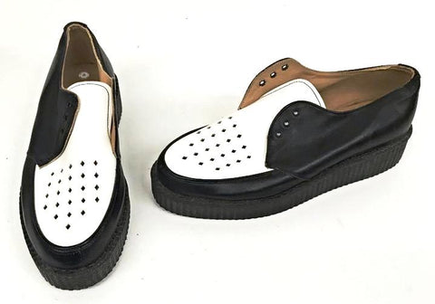 Creeper Black/White Swingking Diamonds to Vamp  IN STOCK ONLY size 8
