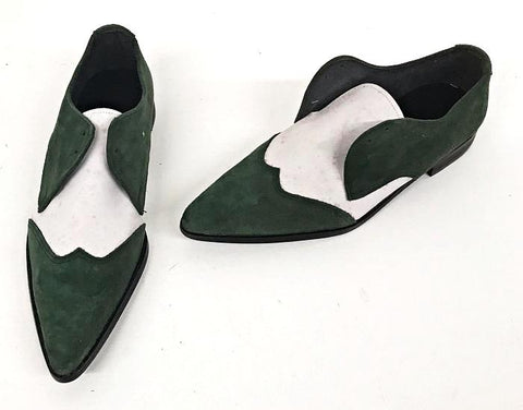 Winkle Shoe Green Suede/White Nubuck IN STOCK ONLY size 5 END OF LINE