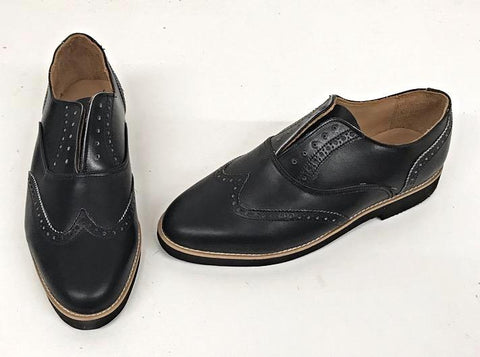 A Brogue Black Black EVA sole - IN STOCK NOW