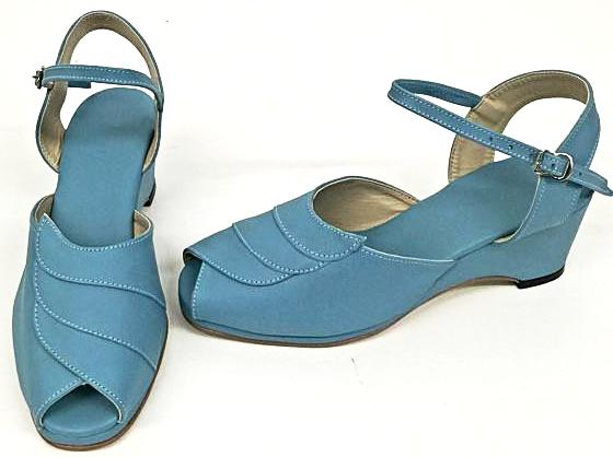 Lauren Wedge Sandals Turquoise - IN STOCK NOW