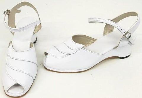Lauren Wedge Sandals White - IN STOCK NOW