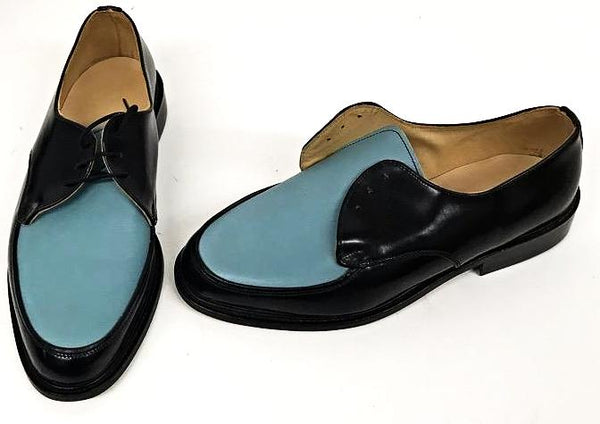 B Gibson Black Sheen/ Baby Blue- IN STOCK NOW size 6 ½