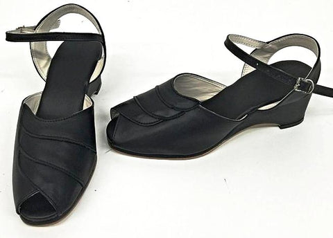 Lauren Wedge Sandals Black - IN STOCK NOW