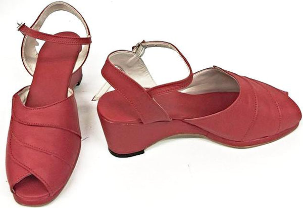Lauren Wedge Sandals Red - IN STOCK NOW