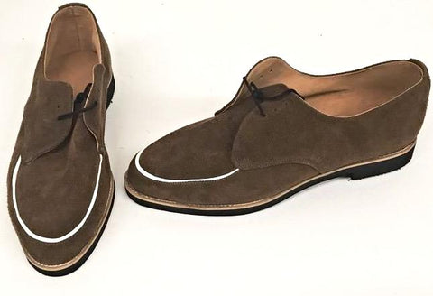 B Gibson Brown Suede/White Piping Black EVA sole IN STOCK NOW