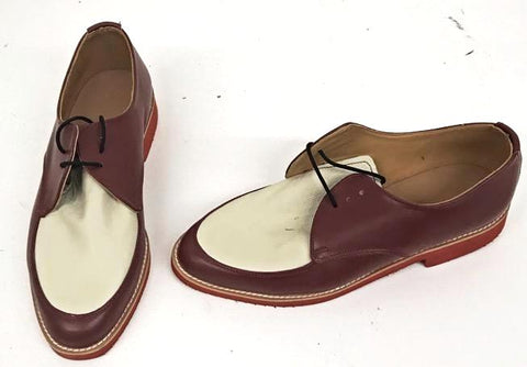 B Gibson Burgundy / Cream. Red Eva sole. IN STOCK NOW