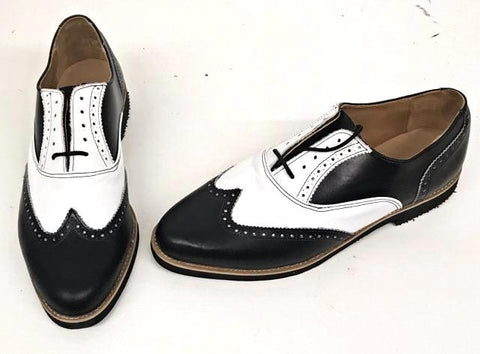 A Brogue - Black/ White Black EVA sole. - IN STOCK NOW size 8½