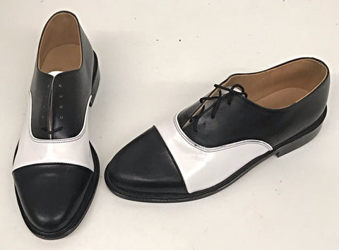 Oxford Elvis Black/White Leather  IN STOCK NOW END OF LINE size 8