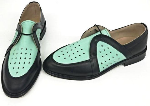 Swingkings Black Leather/Mint IN STOCK NOW size 10