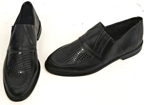 50s Slip On Black/Black Snake IN STOCK ONLY size 13