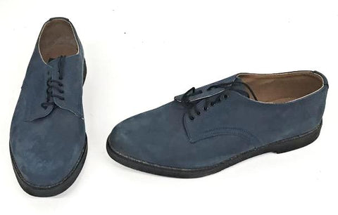 Bucks Mid Blue  Suede  Black EVA Sole  STOCK ONLY size 9 END OF LINE