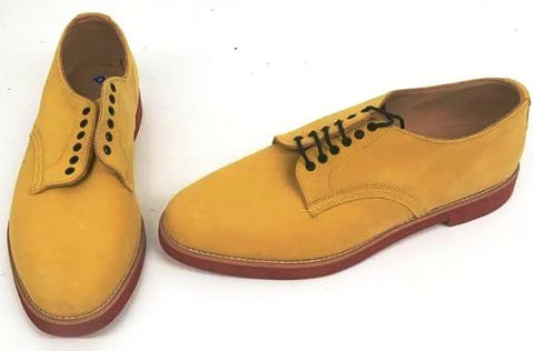 Bucks Mustard Suede Red EVA Sole  IN STOCK ONLY size 9 END OF LINE