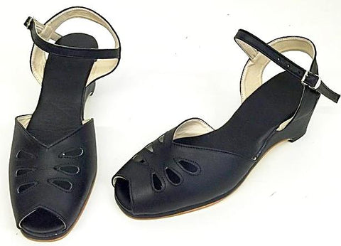Rita Wedge Sandals Black - IN STOCK NOW