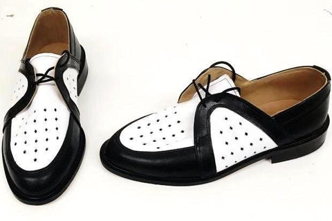 Swingkings Black/White Leather IN STOCK NOW size 7