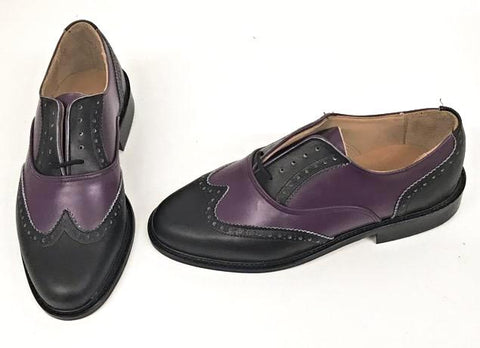 G Brogue - Black/Purple Black Facing - IN STOCK NOW