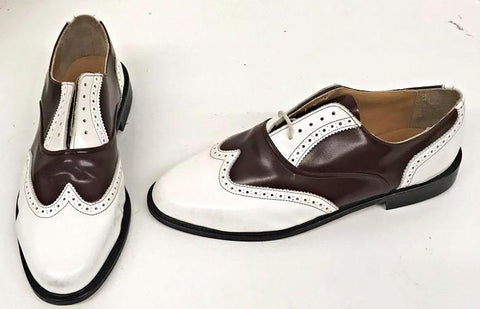 G Brogue White/Reddy Brown Sole IN STOCK NOW size 10