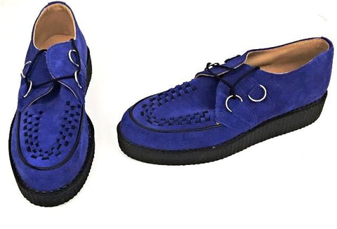 Creeper Blue Suede D-Ring  IN STOCK NOW