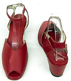Gina Wedge Sandals Cherry Red - IN STOCK NOW