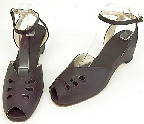 Rita Wedge Sandals with a H-Back Brown - IN STOCK NOW