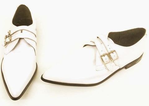Winkle White 2 Buckles - IN STOCK NOW size 11 END OF LINE