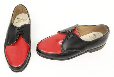 B Gibson Black /red. Leather sole. - IN STOCK NOW size 5