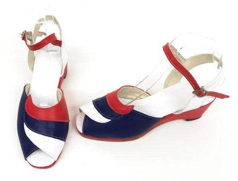 Lauren Patriot Wedge Sandals - IN STOCK NOW