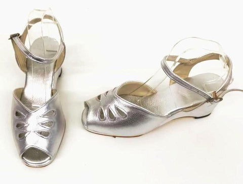 Rita Wedge Sandals Silver - IN STOCK NOW