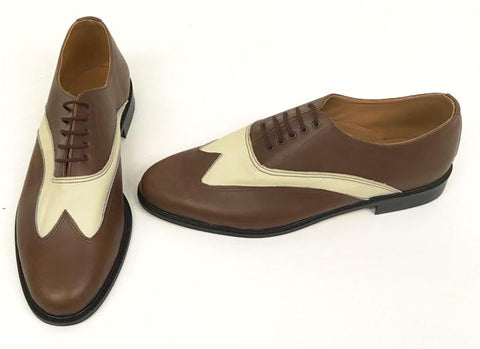 F Correspondent Brown/Cream Leather  IN STOCK NOW size 13
