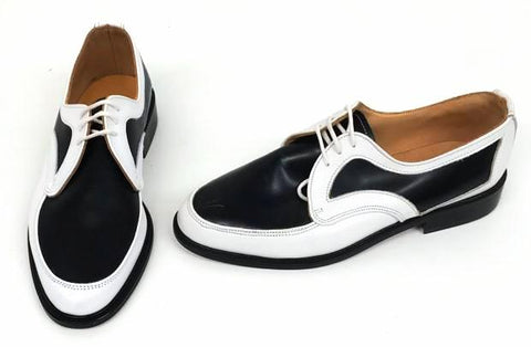 D Gibson White/Black Leather Black EVA sole IN STOCK NOW