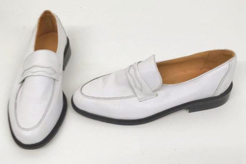 Penny Loafer White Leather IN STOCK NOW size 10