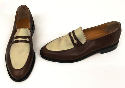 Penny Loafer Brown/Beige IN STOCK ONLY size 11