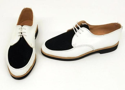 Gibson White/Black Suede Balck EVA sole - IN STOCK NOW size 7 ½