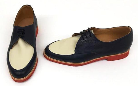 B Gibson Navy/Cream Red EVA Sole  STOCK ONLY