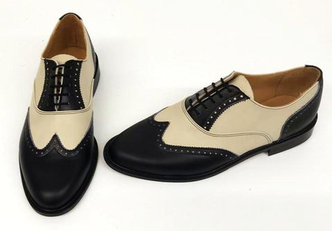 G Brogue with Facing Black/Cream - IN STOCK NOW