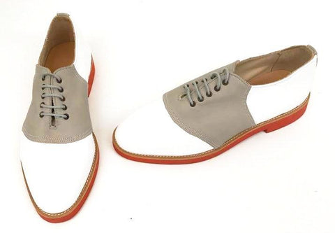 Saddle White/Fawn Red EVA Sole   size 8  END OF LINE SALE