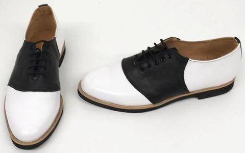 Saddle White/black Black EVA Sole IN STOCK NOW