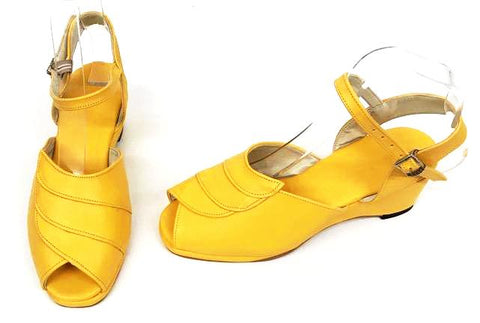 Lauren Sunshine Yellow Wedge Sandals - IN STOCK NOW size 4