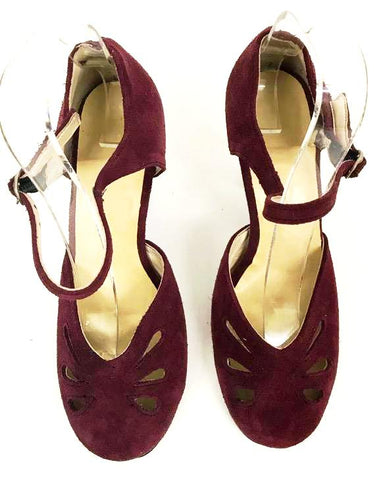 Lana Burgundy Suede Full Toe/Back IN STOCK NOW
