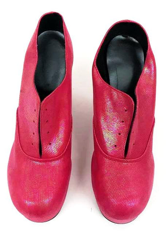 1940s  Platform Cerise Pink Shimmer Lace Up -  END OF LINE size 8