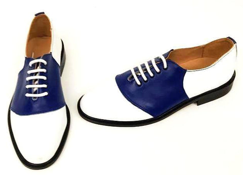 Saddle Royal Blue/White  Sole  size 6½  END OF LINE SALE
