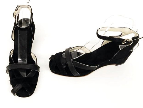 Jean Wedge Sandals Midnight - IN STOCK NOW