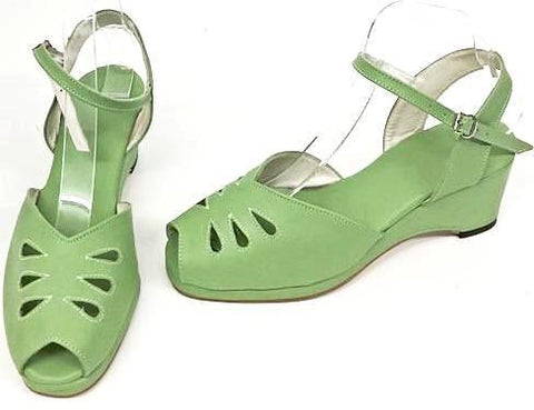 Rita Wedge Sandals Apple Green - IN STOCK NOW