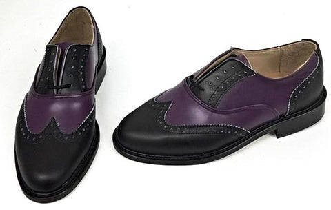 A Brogue Black/Purple IN STOCK ONLY size 4½